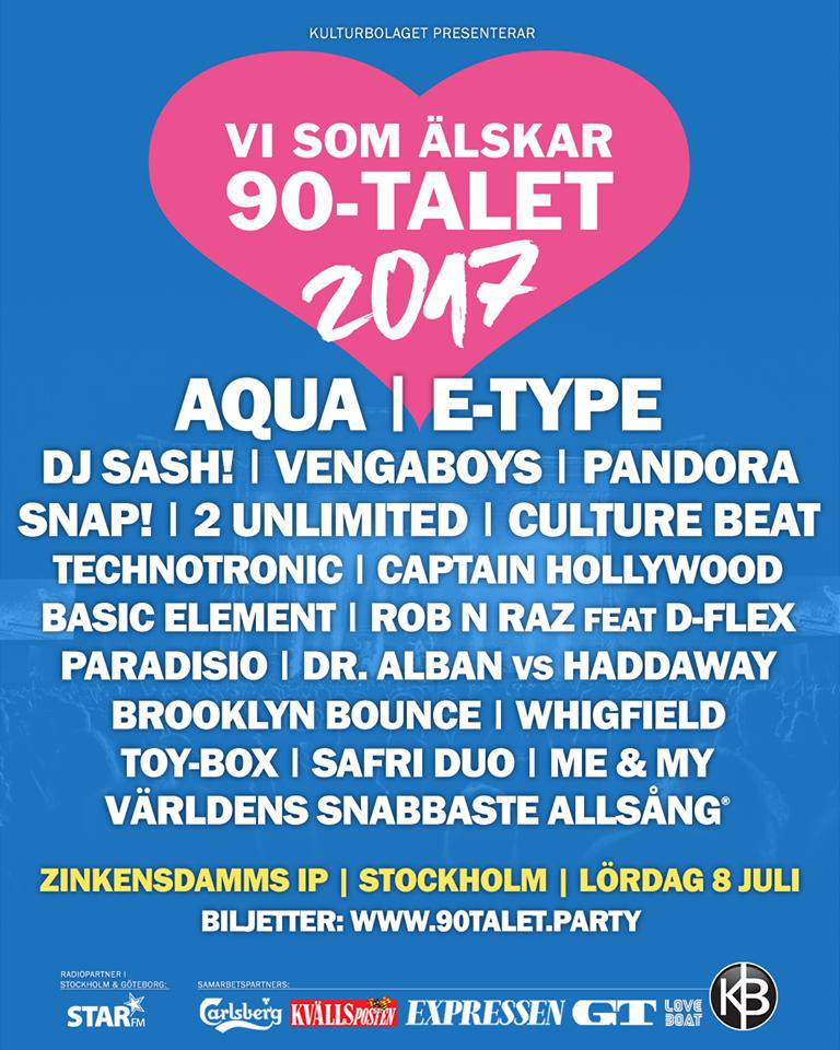 Milestones From 2017 Into 2018: VI SOM ÄLSKAR 90 TALET STOCKHOLM 2017